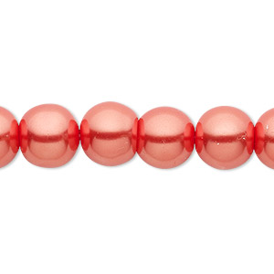 Imitation Pearls Ball Red-Orange