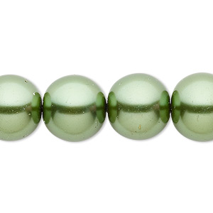 Imitation Pearls Glass Greens