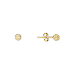 Earstud Earrings Sterling Silver Gold Colored