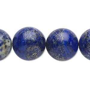 Bead, Lapis Lazuli (natural), 16mm Round, C Grade, Mohs Hardness 5 6. Sold Per 15-inch Strand
