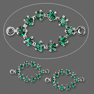 Links Swarovski Emerald
