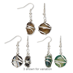 Fishhook Earrings Grade B Agate