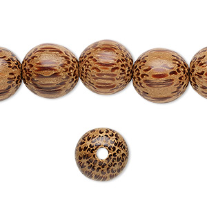 Dyed and Waxed 15 inch strand 4-5mm Dark Brown Round Wood Beads