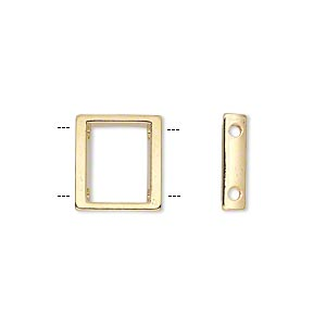 Spacer Bars Gold Plated/Finished Gold Colored