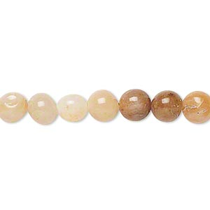 Beads Grade C Golden Cream Quartz