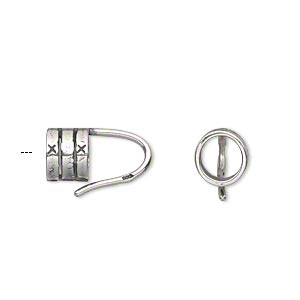 Cord Ends Sterling Silver Silver Colored
