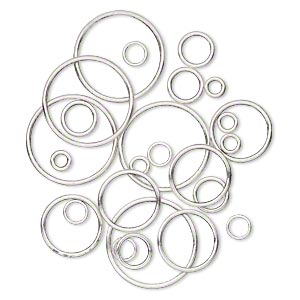 Soldered Closed Jump Rings Silver Plated/Finished Silver Colored