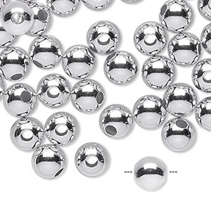 Beads Sterling Silver-Filled Silver Colored
