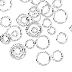 Soldered Closed Jump Rings Sterling Silver-Filled Silver Colored
