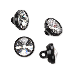 Buttons Swarovski Clear
