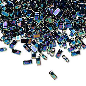 Miyuki HALF TILA® glass beads 5X2.3mm opaque robin/'s egg blue HTL413FR