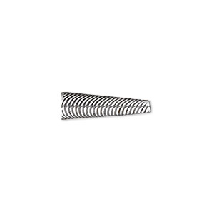 Cone, JBB Findings, Antique Silver-plated Brass, 18.5x6mm Wavy Line Design, Fits 5mm Bead. Sold Individually 7281BRASP