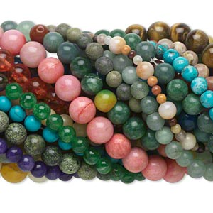Beads Mixed Gemstones Mixed Colors