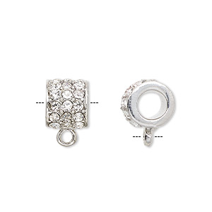 Beads Imitation rhodium-plated Silver Colored