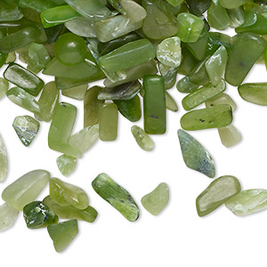 Undrilled Mini Chips Nephrite Jade Greens