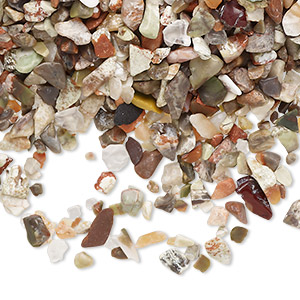Undrilled Mini Chips Agate Mixed Colors