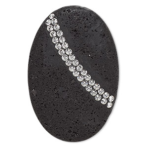 Cabochons Lava Blacks