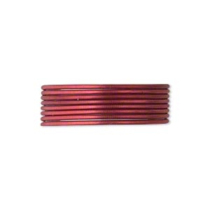 French Wire, Enamel-coated Brass, Red, 0.7mm Tube. Sold Per Pkg (2) 19-1/2 Inch Strands