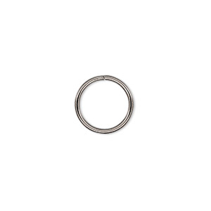 Open Jump Rings Stainless Steel Silver Colored