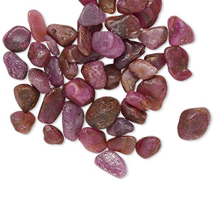 Undrilled Mini Chips Ruby Reds