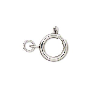 Springring Stainless Steel Silver Colored