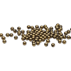 Beads Brass Plated/Finished Gold Colored