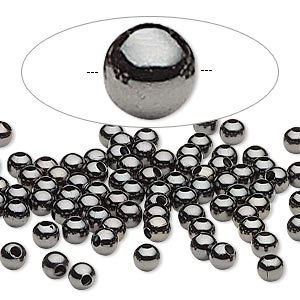 Beads Gunmetal Greys