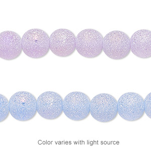 druzy coated glass beads 7-8mm uneven round 16 inches strand opaque matte colors