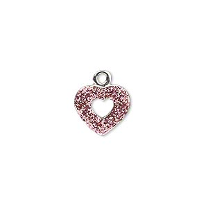 Charms Silver Plated/Finished Pinks