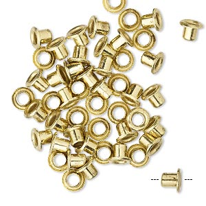 Eyelets Brass Gold Colored