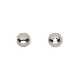 Beads Stainless Steel Silver Colored