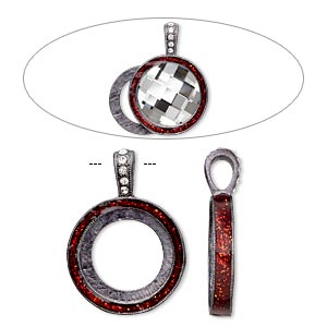 Pendant Settings Gunmetal Reds