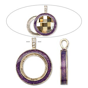 Pendant Settings Gold Plated/Finished Purples / Lavenders