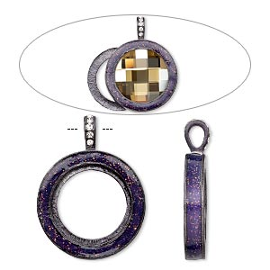 Pendant Settings Gunmetal Purples / Lavenders