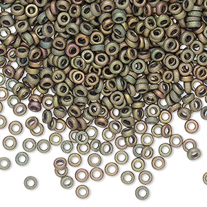 Spacer Beads Glass Greens