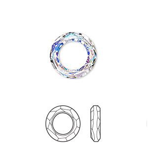 9c1f982b0 Component, Swarovski® crystals, crystal AB, 14mm faceted cosmic ring fancy  stone (4139). Sold individually. - Fire Mountain Gems and Beads