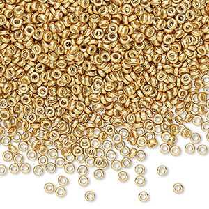 Spacer Beads Glass Gold Colored