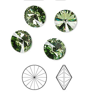 Point-Back Swarovski Peridot