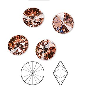 Point-Back Swarovski Rose Peach