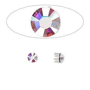 Pronged-Rose-Pins Swarovski Clear