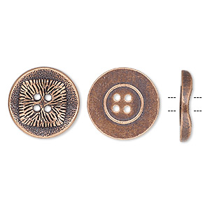 Buttons Copper Plated/Finished Copper Colored