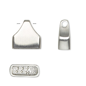 Cord Ends Stainless Steel Silver Colored