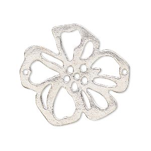 Focal, Silver-plated Copper, 32x29mm Open Flower. Sold Individually