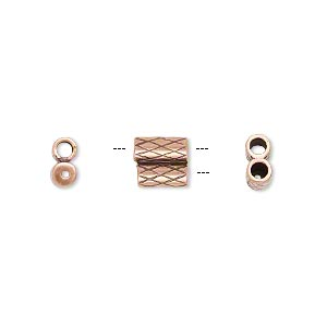 Slide Clasp Copper Plated/Finished Copper Colored