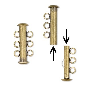 Slide Lock Gold Plated/Finished Gold Colored