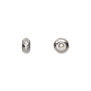 Beads Rhodium-plated Silver Colored