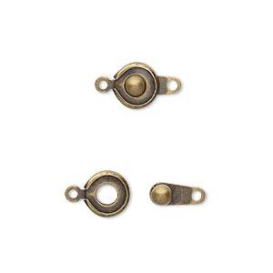 Snap Button Clasps Gold Plated/Finished Gold Colored