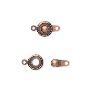 Snap Button Clasps Copper Plated/Finished Copper Colored