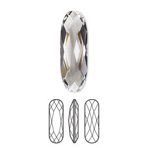 335d8f24c Embellishment, Swarovski® crystal rhinestone, crystal clear, 27x9mm ...