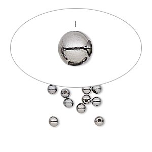 Memory-Wire Bead Ends Gunmetal Greys